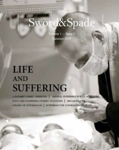 Sword & Spade Cover with man in respirator mask