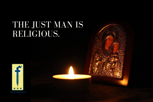 the just man is religious